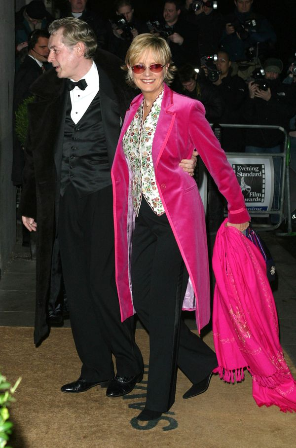 Twiggy attends the Evening Standard British Film Awards in 2003 at The Savoy in London.