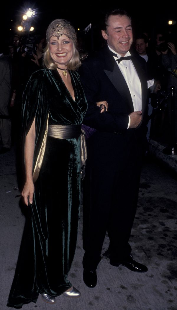 Twiggy and husband Leigh Lawson at the eighth annual American Comedy Awards at the Shrine Auditorium in Los Angeles.