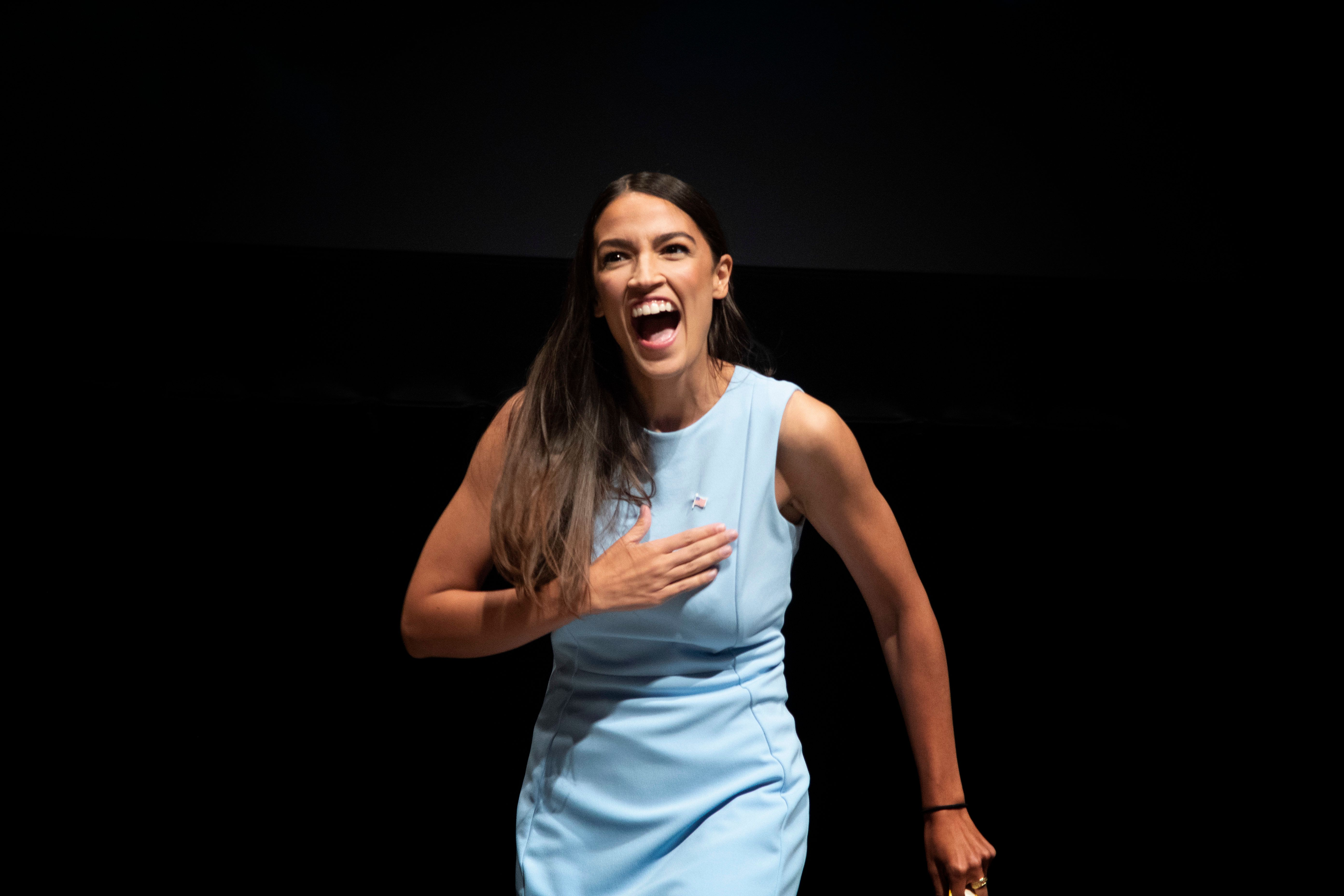 Alexandria Ocasio-Cortez is running in New York City's heavily Democratic 14th Congressional District.