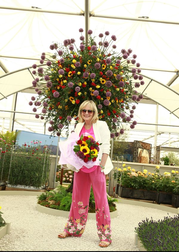 Twiggy attends the VIP preview day of the Chelsea Flower Show at The Royal Hospital Chelsea in London.