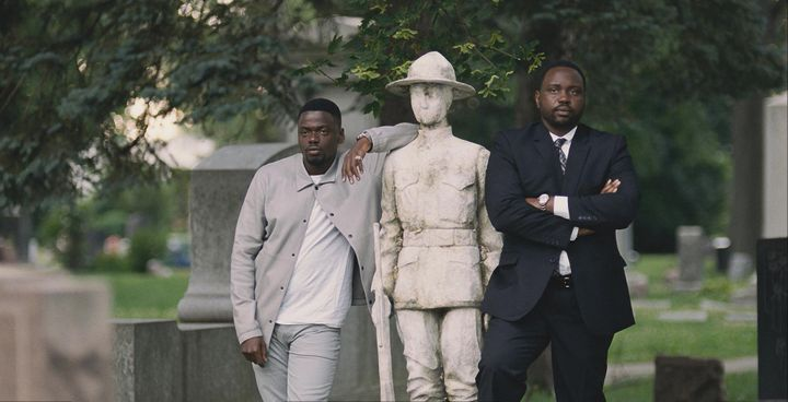 "Daniel Kaluuya and Brian Tyree Henry in ""Widows."""