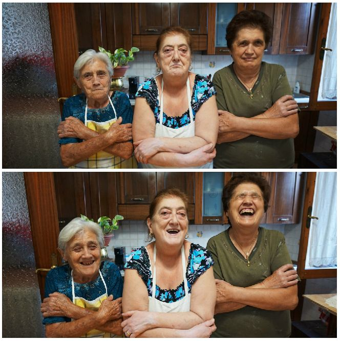 Left to right: Elide, Graziella and Franca are experts at all things pasta.