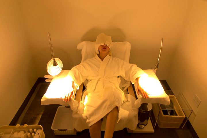 The spa features a nap room and quiet room pods as well as facials, massages, hair removal and nail care.