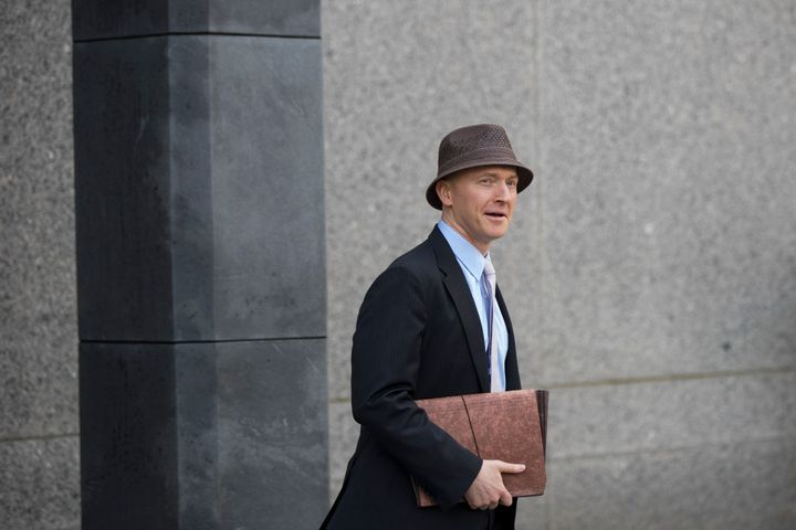 Carter Page arrives at the United States District Court Southern District of New York on April 16, 2018, in New York City.