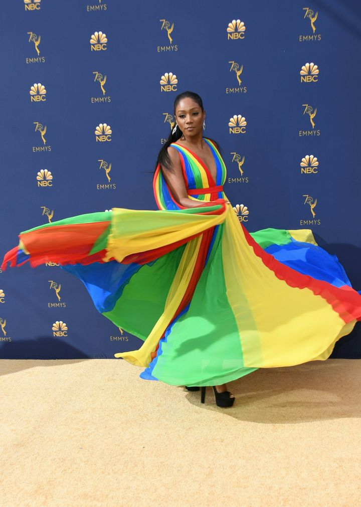 Tiffany Haddish arriving at the 2018 Primetime Emmy Awards on Sept. 17.