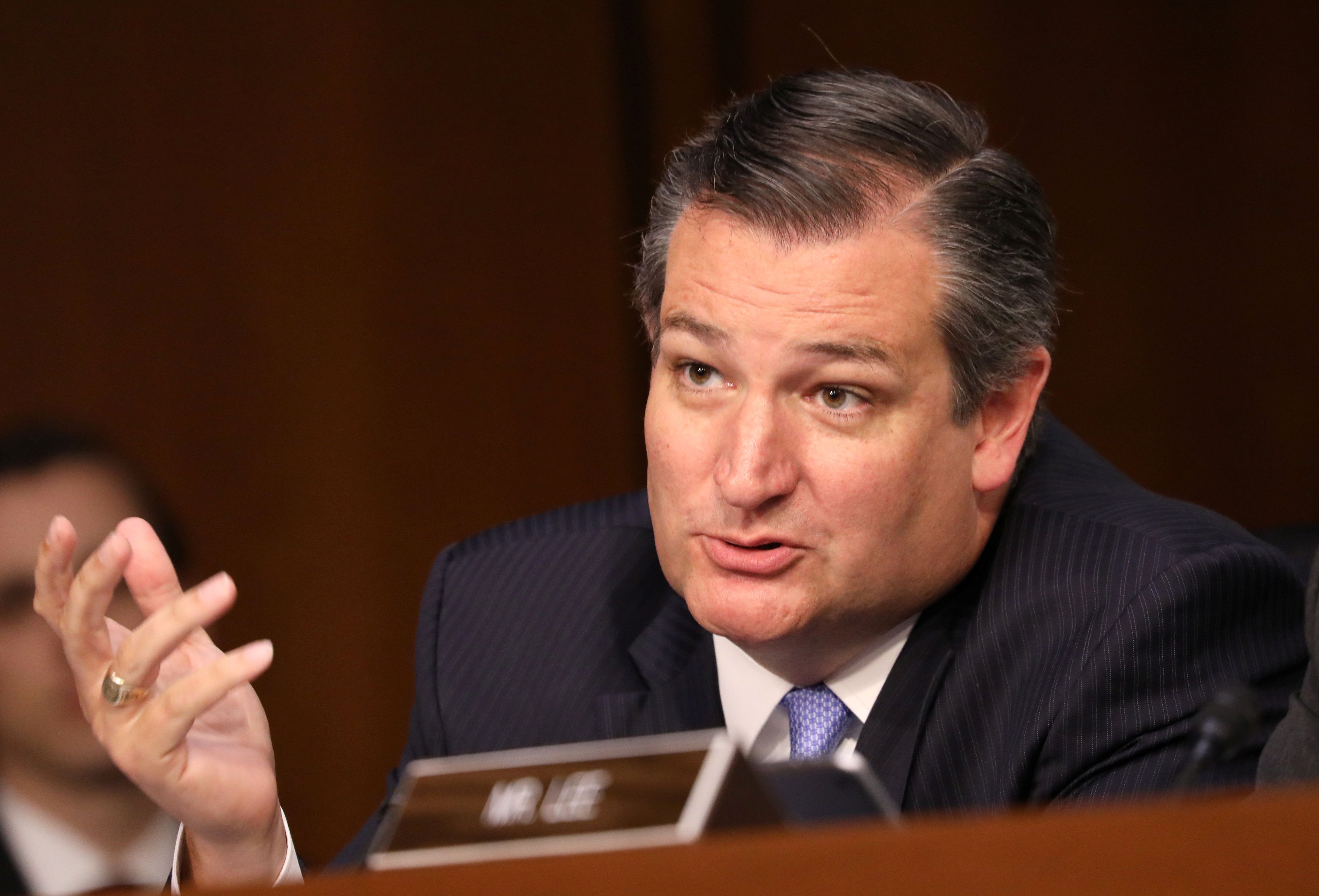U.S. Senator Ted Cruz (R-TX) speaks during a Senate Judiciary Committee confirmation hearing for U.S. Supreme Court nominee judge Brett Kavanaugh on Capitol Hill in Washington, U.S., September 4, 2018. REUTERS/Chris Wattie