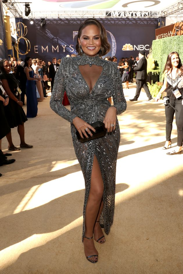 Chrissy Teigen arrives to the 70th Annual Primetime Emmy