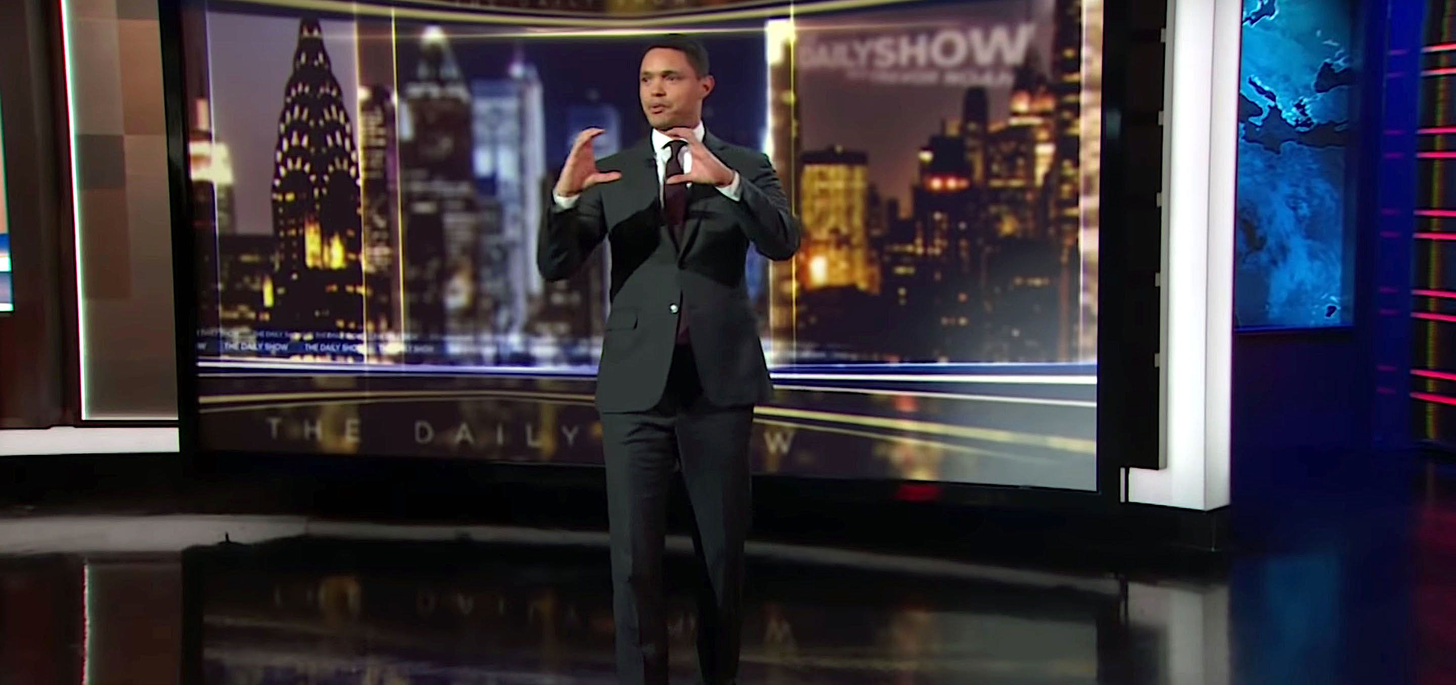 Trevor Noah of The Daily Show tells his studio audience about his favorite toy as a child