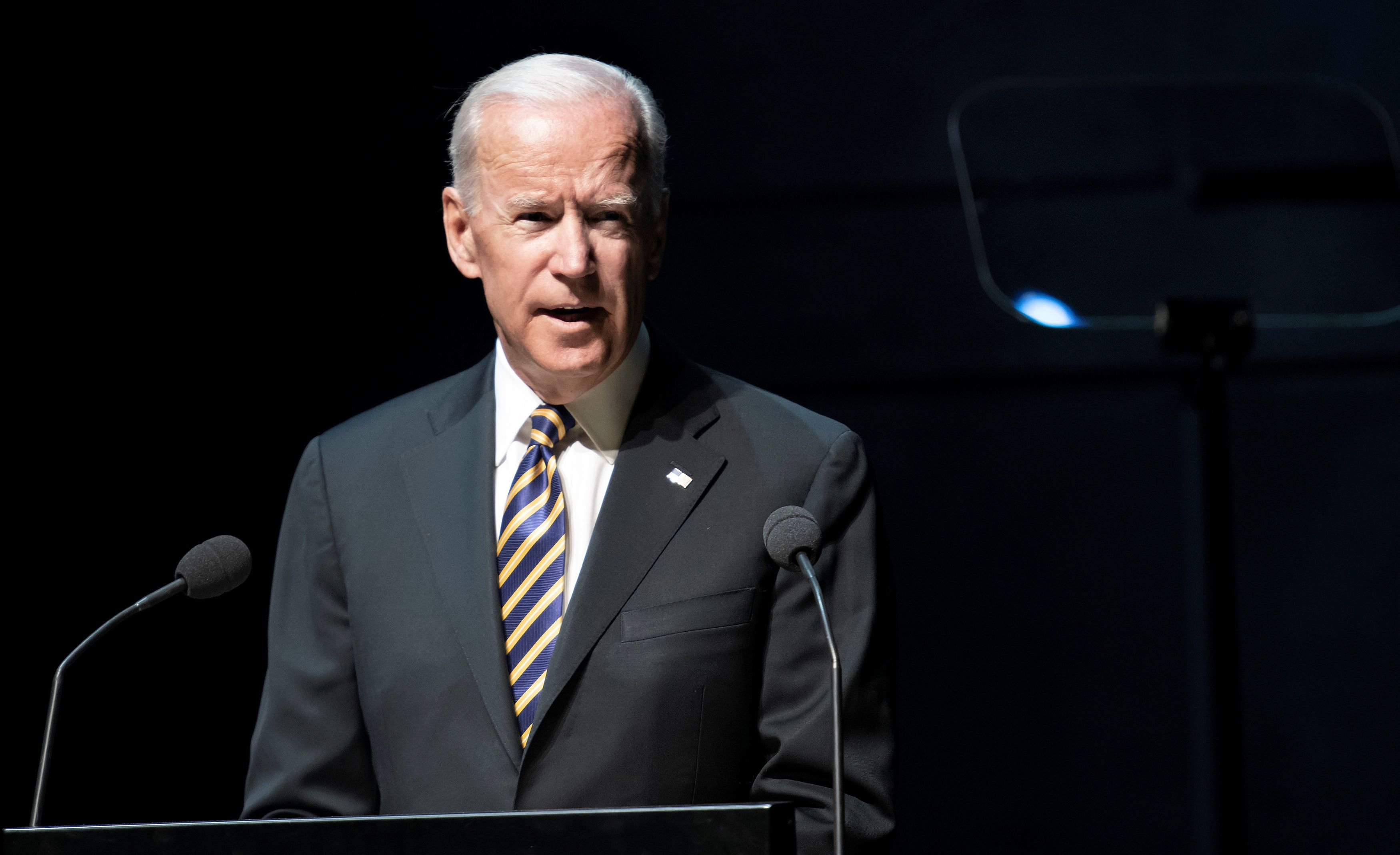 Joe Biden, 47th Vice President of the United States, speaks at the Copenhagen Democracy Summit, held in Copenhagen, Denmark June 22, 2018. Ritzau Scanpix/Keld Navntoft via REUTERS.   ATTENTION EDITORS - THIS IMAGE HAS BEEN SUPPLIED BY A THIRD PARTY. DENMARK OUT. NO COMMERCIAL OR EDITORIAL SALES IN DENMARK