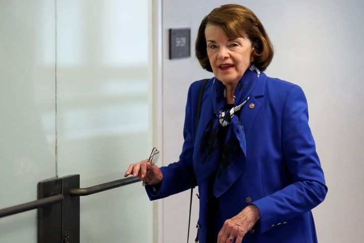 Sen. Dianne Feinstein (D-Calif.) arrives for a Senate Intelligence Committee hearing on Capitol Hill in May. She is batting a
