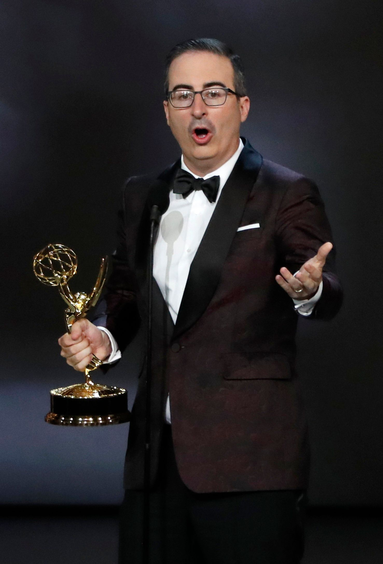 70th Primetime Emmy Awards - Show - Los Angeles, California, U.S., 17/09/2018 - John Oliver for Last Week Tonight with John Oliver wins the Emmy for Outstanding Variety Talk series. REUTERS/Mario Anzuoni