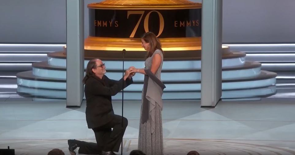 SHE SAID YES: We Defy You Not To Get Emotional As Director Glenn Weiss Proposes Live On Stage At The