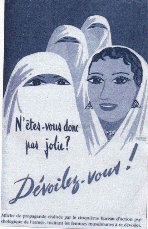 Un poster de propagande de l'armée française durant la colonisation de