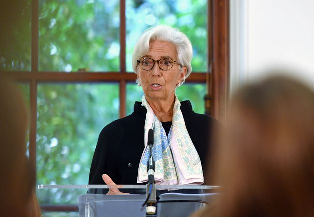 Christine Lagarde at the IMF press conference on