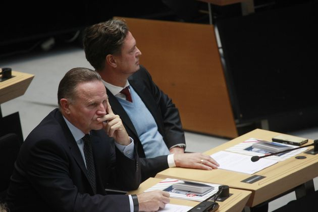 Frank-Christian Hansel (l.) neben AfD-Politiker Georg