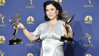 LOS ANGELES, CA - SEPTEMBER 17:  Alex Borstein attends the 70th Emmy Awards - Press Room at Microsoft Theater on September 17, 2018 in Los Angeles, California.  (Photo by David Crotty/Patrick McMullan via Getty Images)