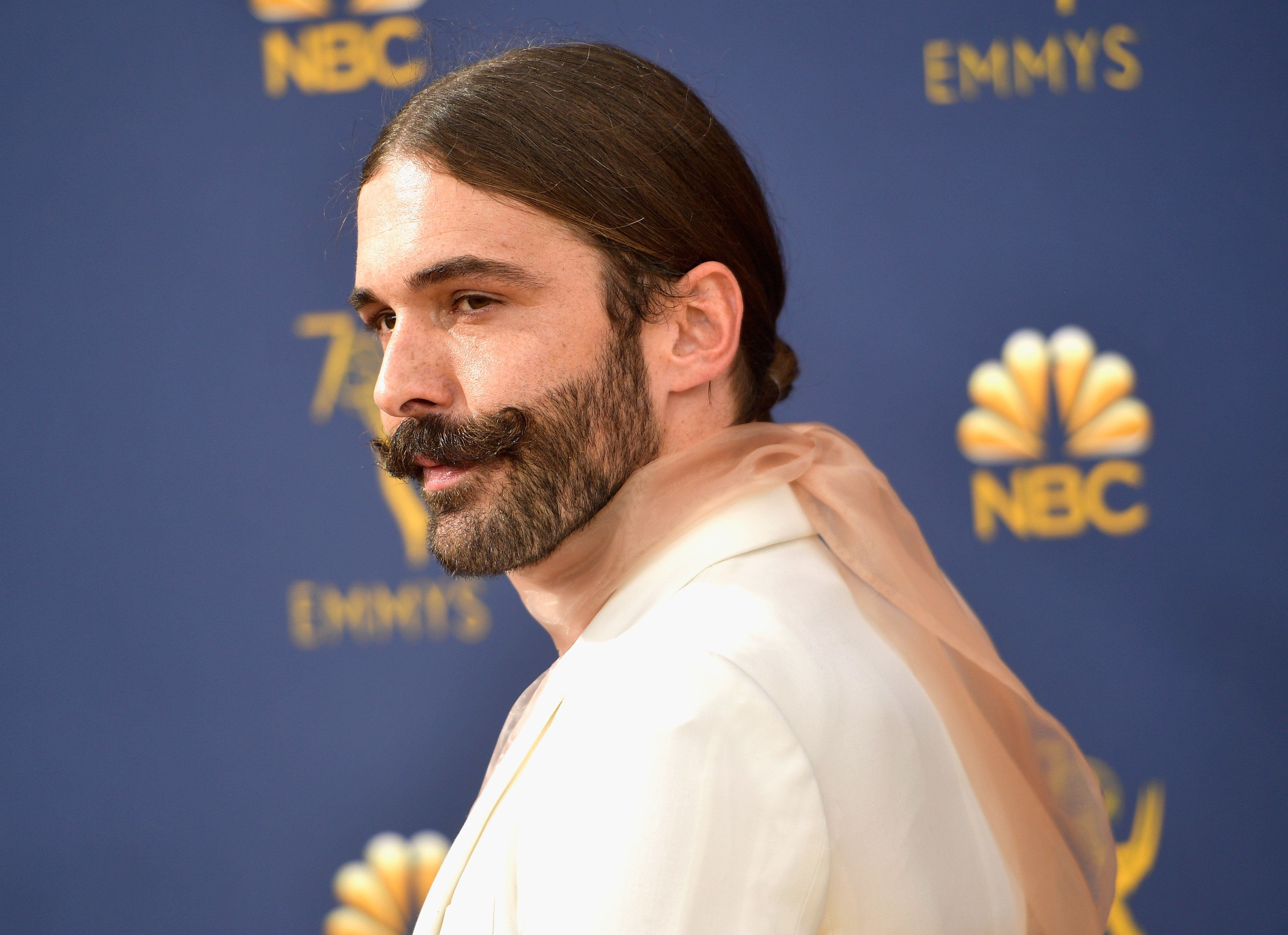 LOS ANGELES, CA - SEPTEMBER 17:  Jonathan Van Ness attends the 70th Emmy Awards at Microsoft Theater on September 17, 2018 in Los Angeles, California.  (Photo by Matt Winkelmeyer/Getty Images)