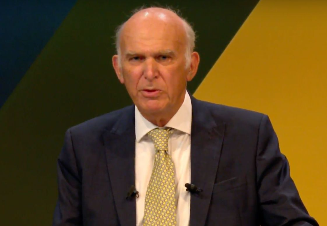 Vince Cable Has 'Exotic Spresm' During Lib Dem Conference