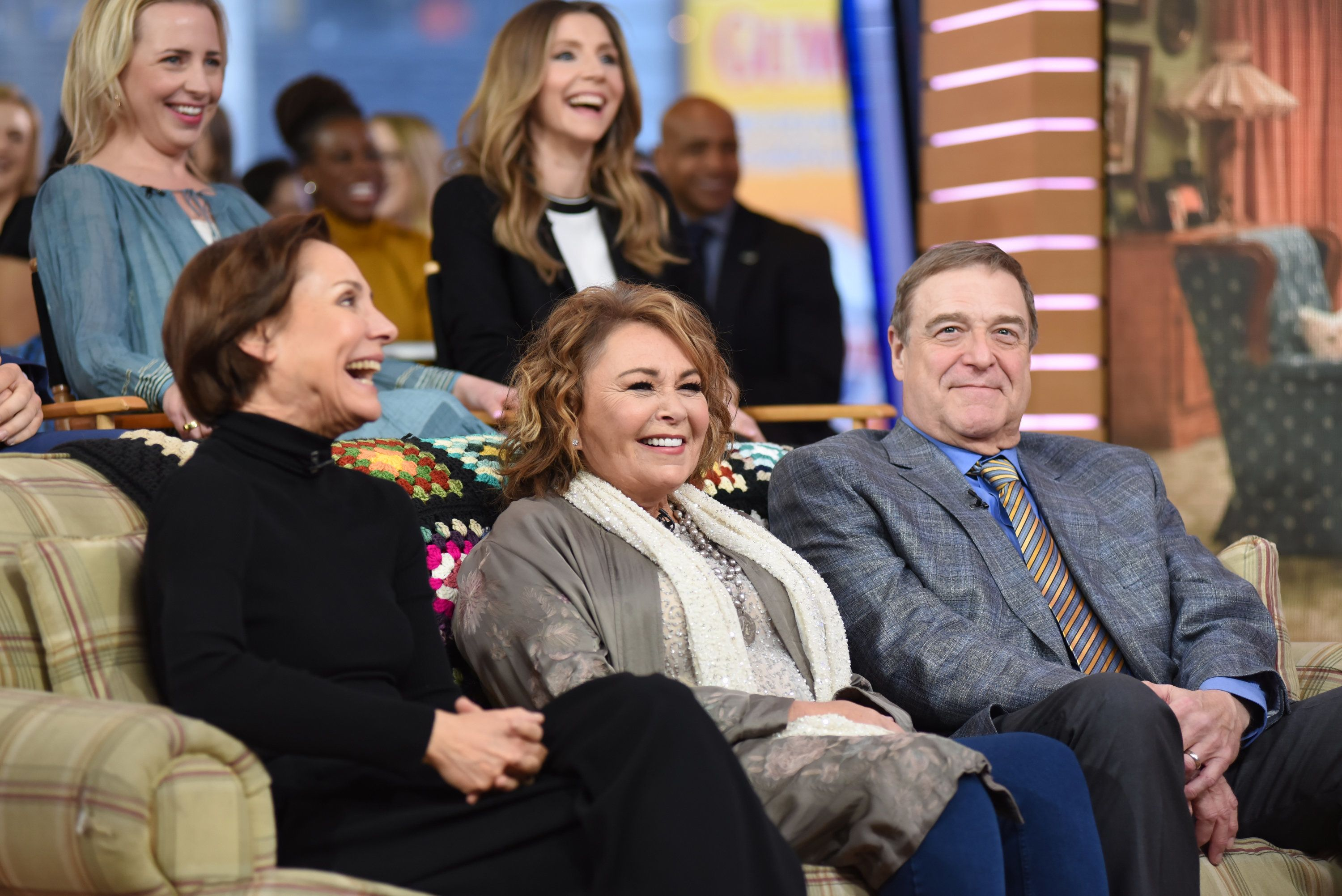 Paula Lobo via Getty Images               Roseanne with her former co-stars