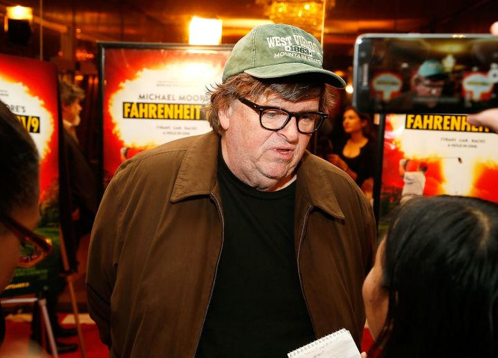 """Fahrenheit 11/9"" director Michael Moore talks to HuffPost at the documentary's Washington premiere on Monday."