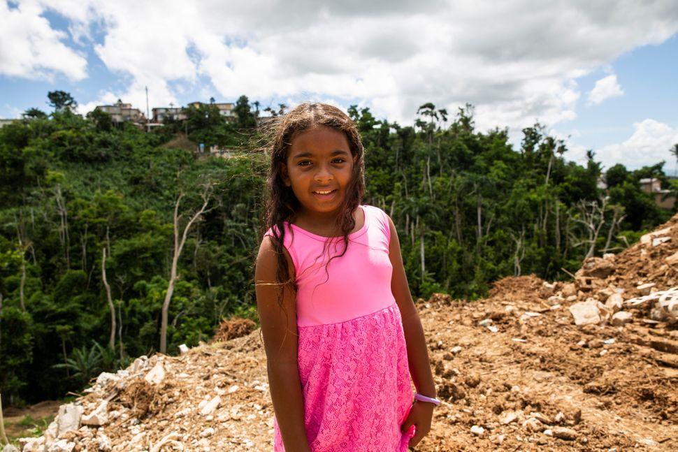 Yermiletsy Quiñonez Rosado, 10, had to leaveAbelardo Díaz Alfaro elementary school after Puerto Rico's De