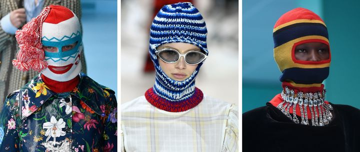 From left to right: Gucci, Calvin Klein 205W39NYC and Gucci options seen on the runway.