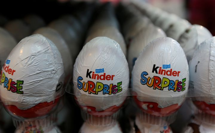 <strong>Kinder chocolate eggs</strong>