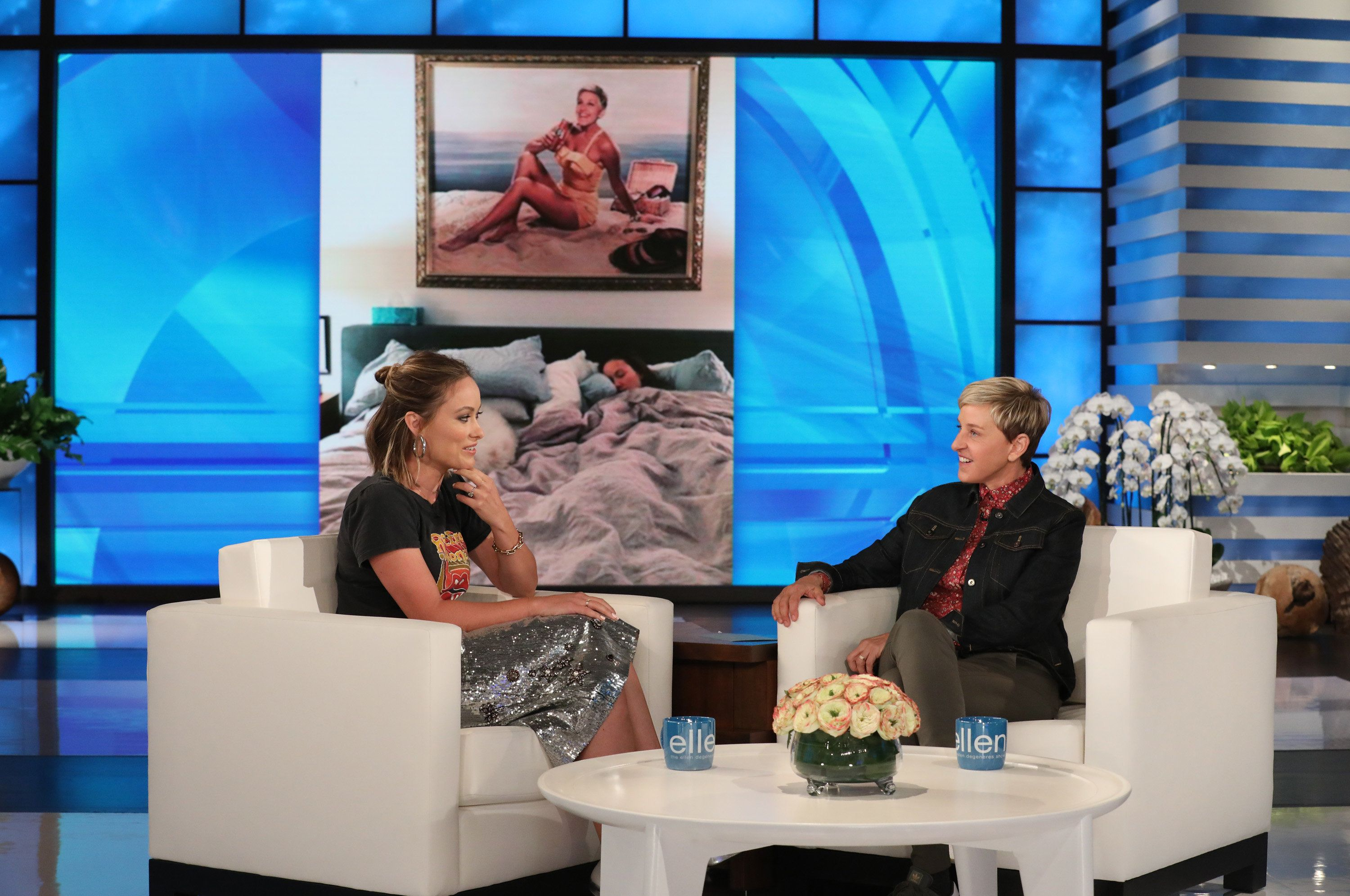 Olivia Wilde Explains Why Her Kids Think Ellen DeGeneres Is Their Real