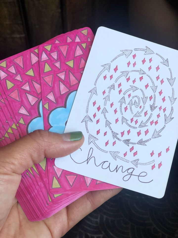 Don't just accept change. Embrace it. Vessel deck by Spirit Speaks.