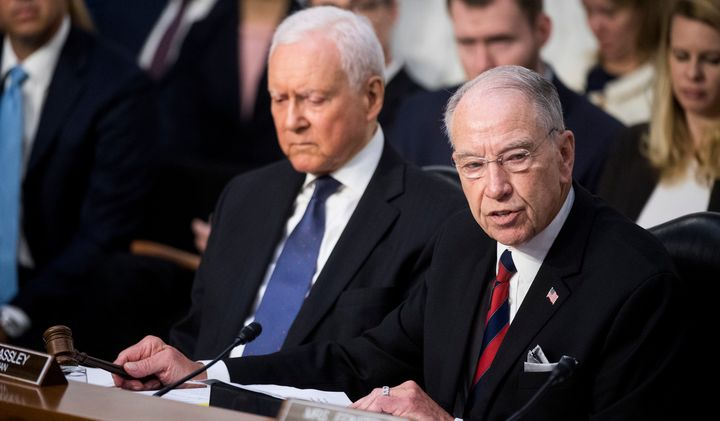 The Senate Judiciary Committee, including Sen. Orrin Hatch (R-Utah), left, and Sen. Chuck Grassley (R-Iowa), may hear from Ch
