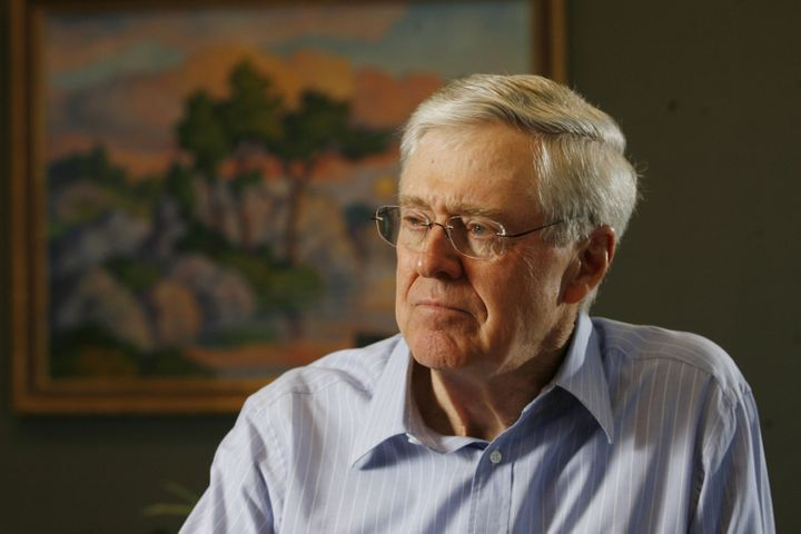 Charles Koch, the head of Koch Industries, runs one of the largest networks of dark money groups that will be affected by the