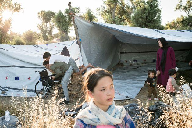 아프가니스탄을 떠나 모리아 캠프로 들어온