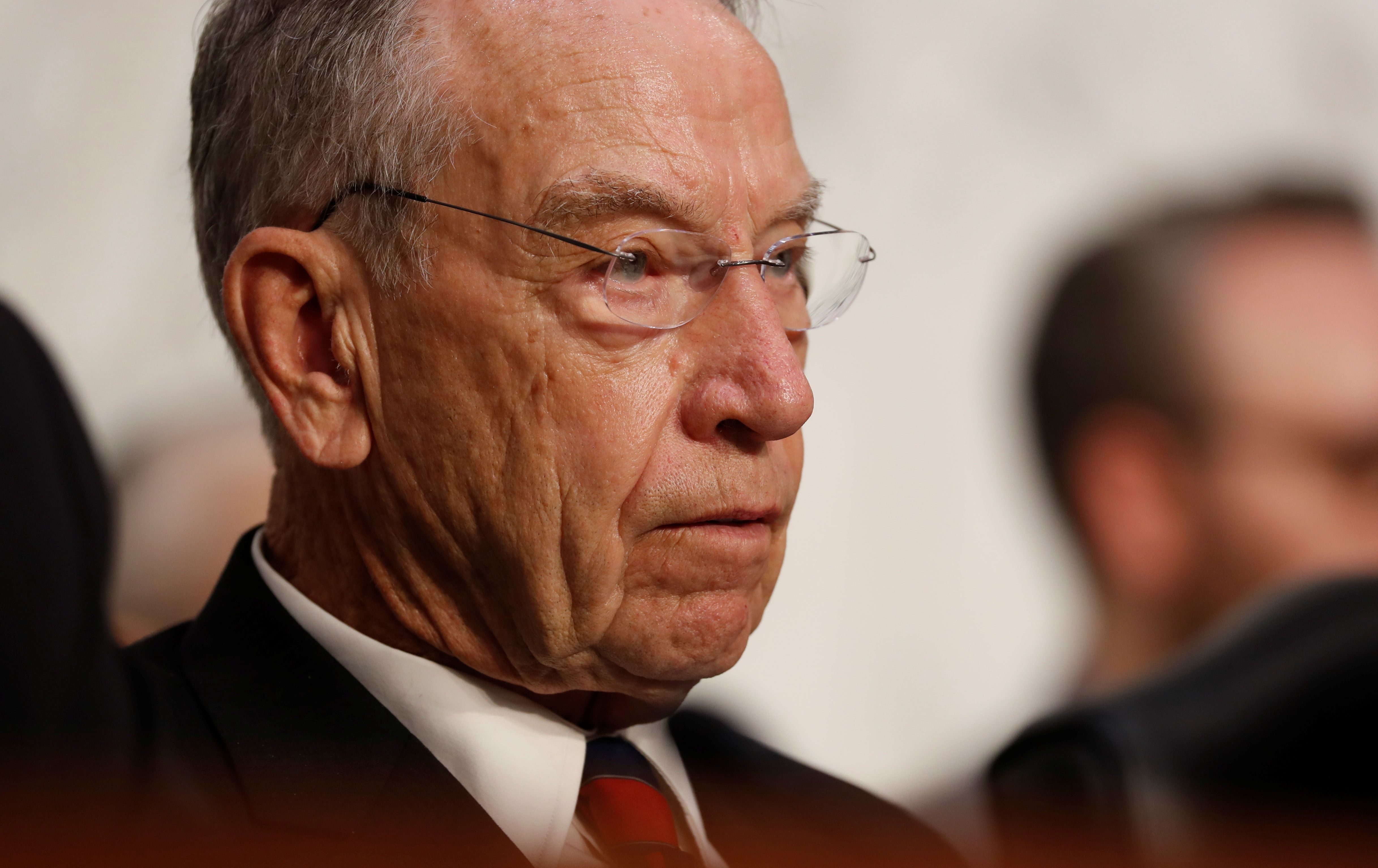 U.S. Senator Chuck Grassley (R-IA) listens during U.S. Supreme Court nominee Judge Brett Kavanaugh's U.S. Senate Judiciary Committee confirmation hearing on Capitol Hill in Washington, U.S., September 4, 2018. REUTERS/Joshua Roberts