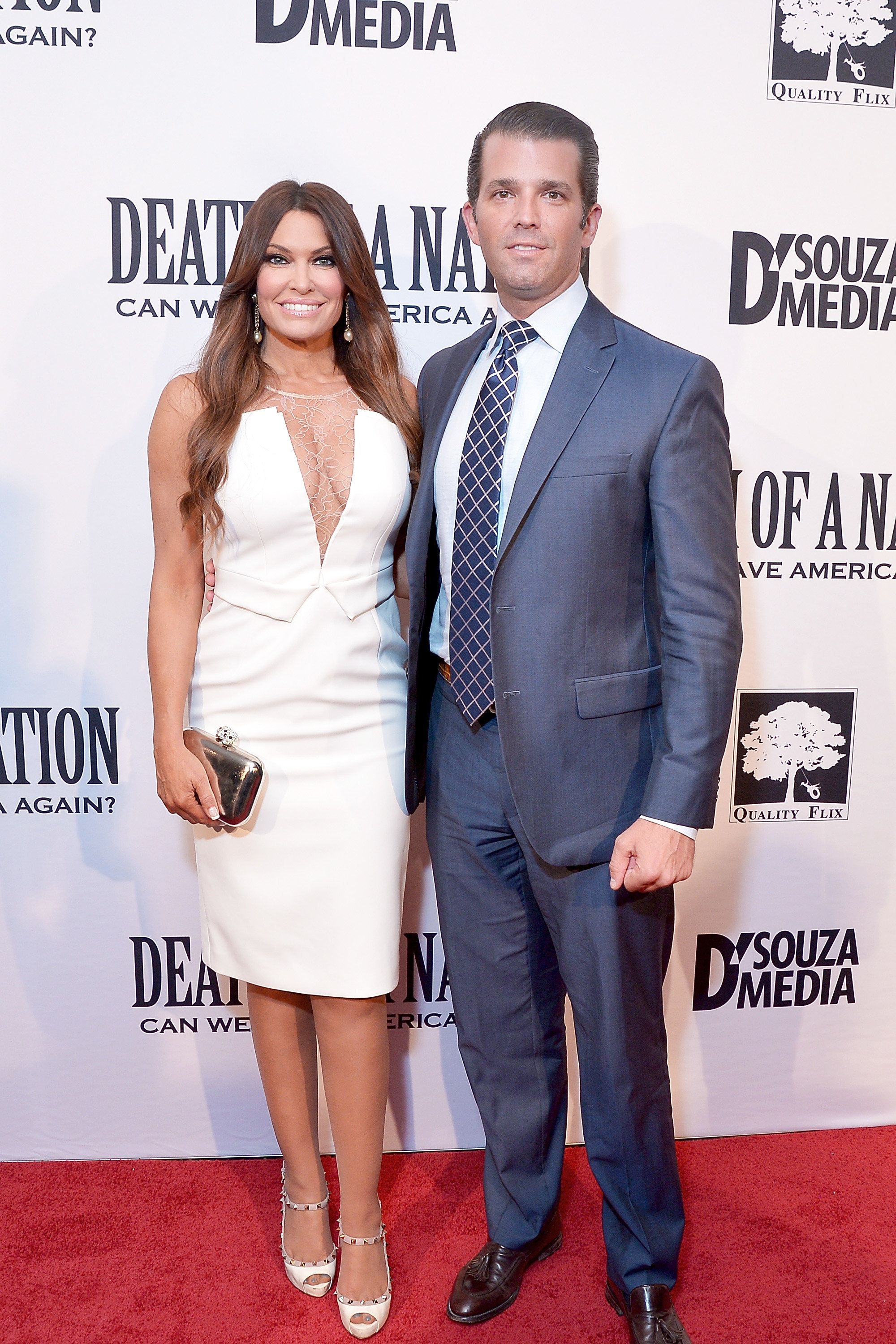 WASHINGTON, DC - AUGUST 01:  Donald Trump, Jr. and Kimberly Guilfoyle attend the DC premiere of the film, 'Death of a Nation,' at E Street Cinema on August 1, 2018 in Washington, DC.  (Photo by Shannon Finney/Getty Images)