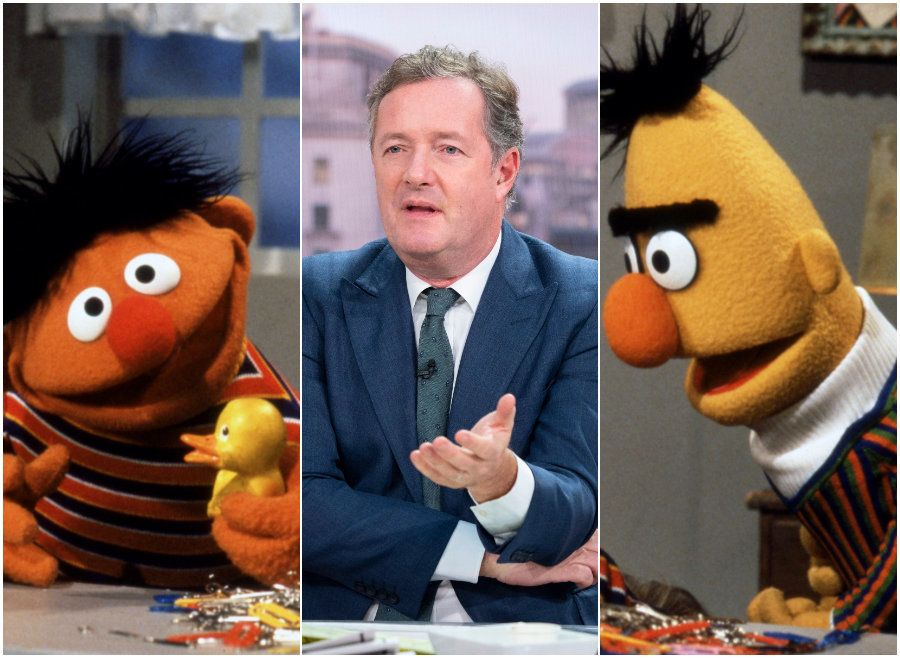 Piers Morgan Addresses Bert And Ernie Debate, Insisting 'Sesame Street' Pair Are 'Clearly