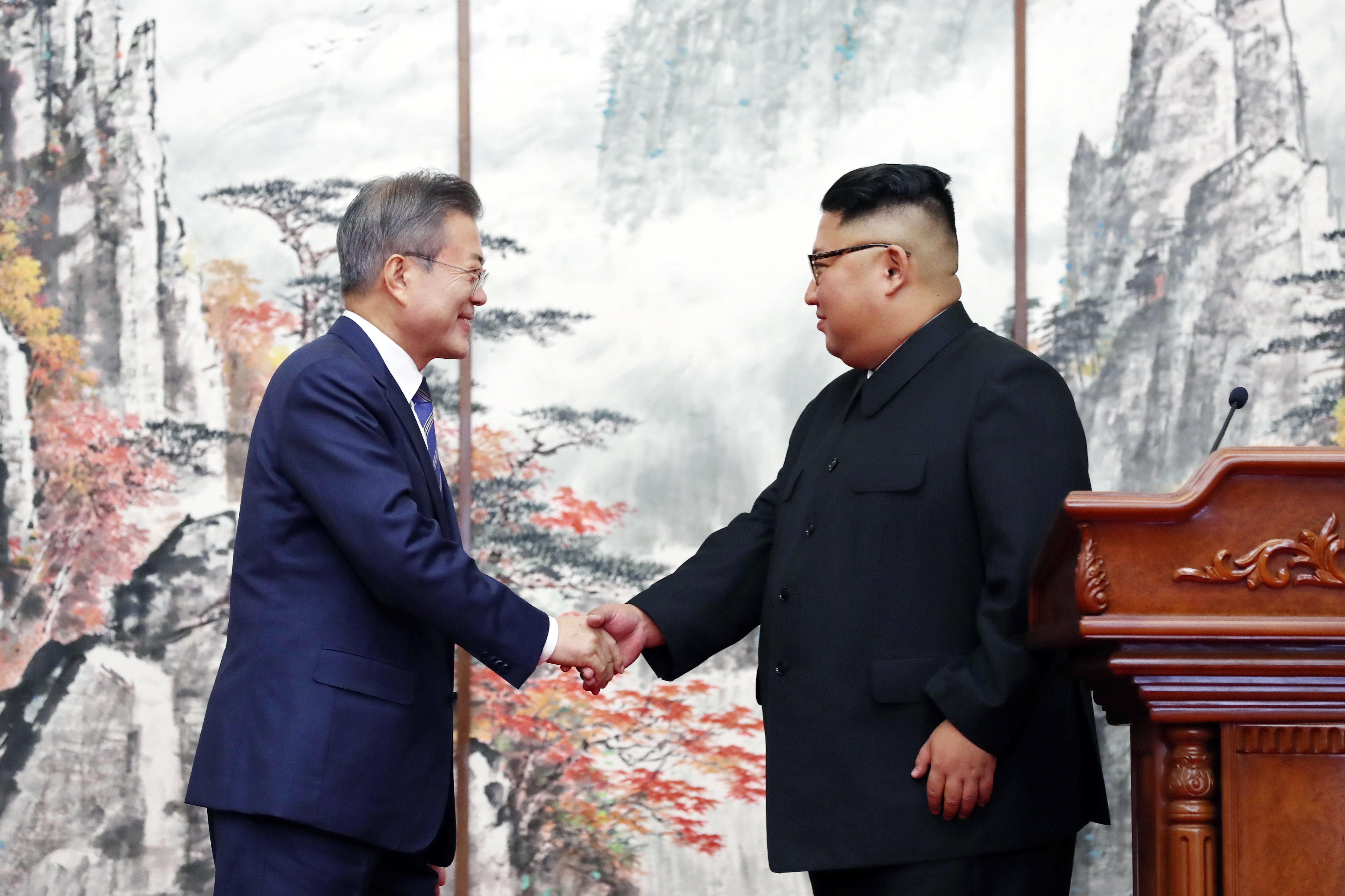 """청와대, """"'평양공동선언'은 실질적 종전"""