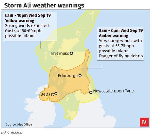 UK Weather: Woman Dies As Storm Ali Flings Caravan Off