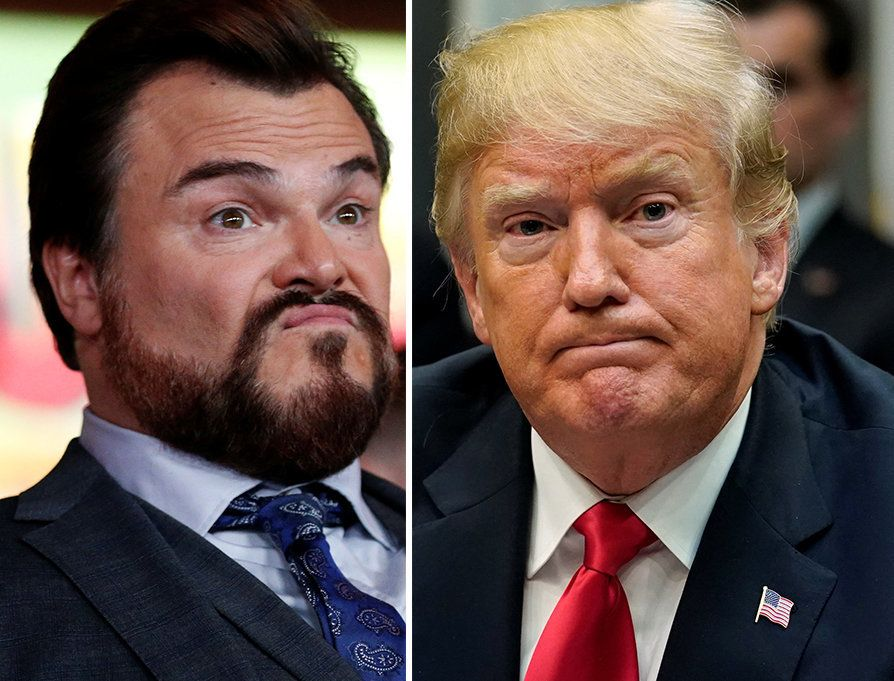 Jack Black Rips 'Piece Of S**t' Trump In Walk Of Fame Ceremony, Then
