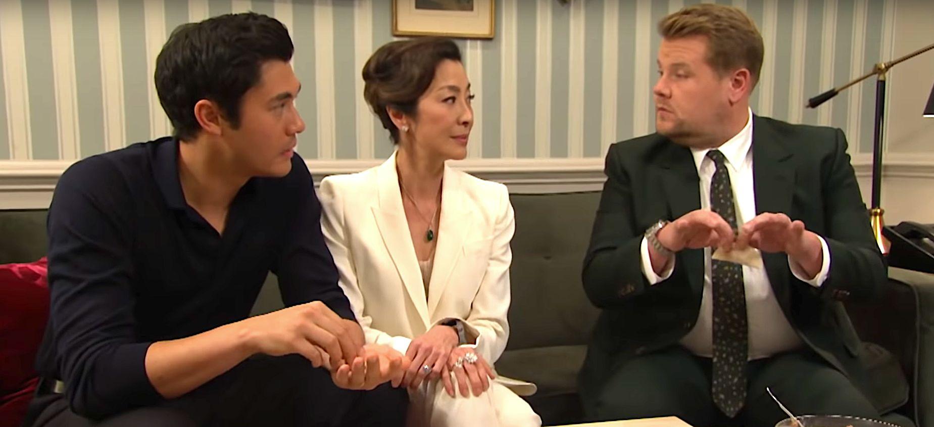 Corden's Attempt To Impress 'Crazy Rich Asians' Mom Michelle Yeoh