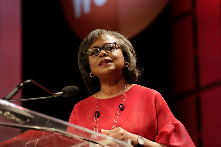 Anita Hill speaks at the Texas Conference For Women 2017 at the Austin Convention Center on Nov. 2, 2017, in Austin, Texas.