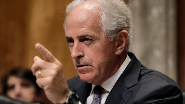 U.S. Senate Foreign Relations Committee chairman Senator Bob Corker leads a hearing about presidential authority to use nuclear weapons on Capitol Hill in Washington, November 14, 2017.   REUTERS/Yuri Gripas