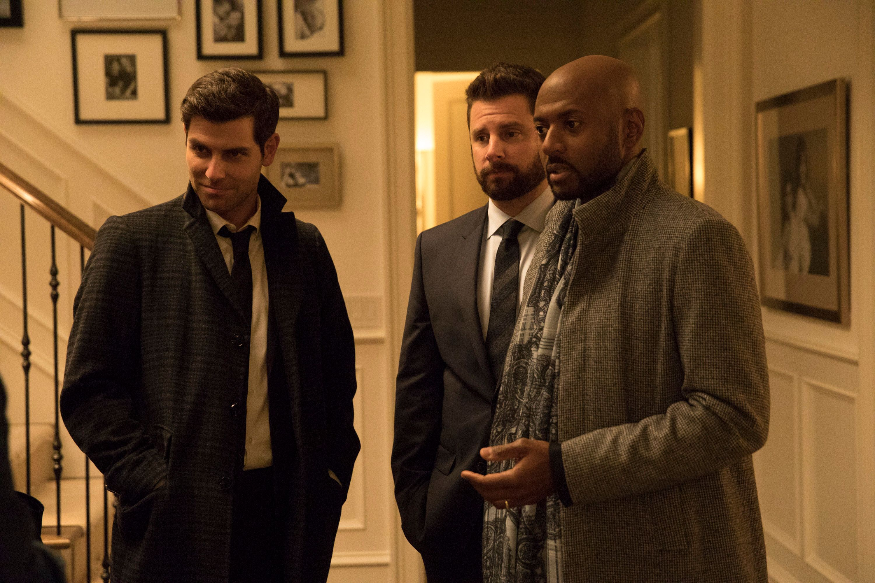"David Giuntoli, James Roday and Romany Malco star in ABC's new drama ""A Million Little Things."""