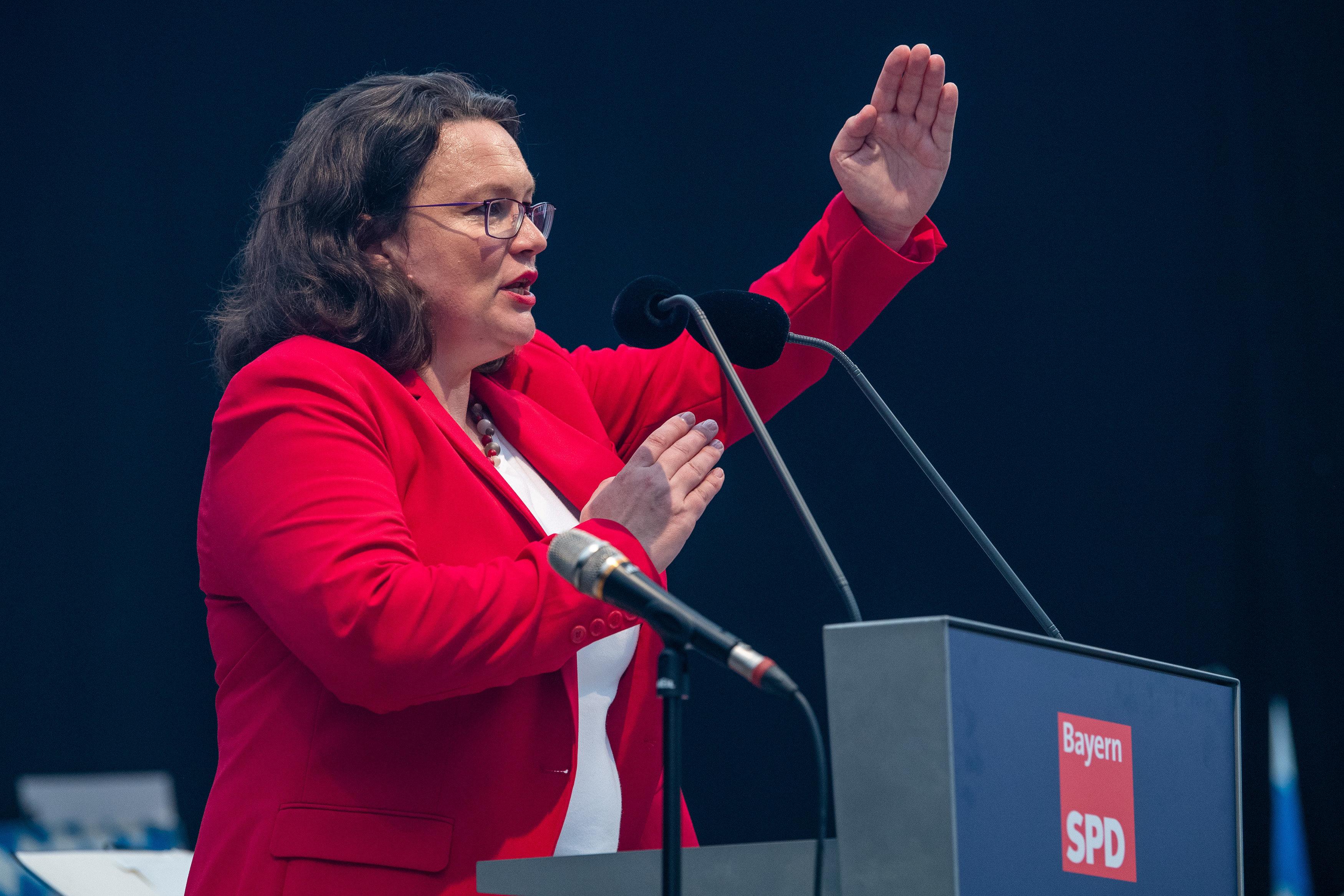 Maaßen–Deal: So wehrt sich SPD-Chefin Nahles gegen Kritik aus der eigenen
