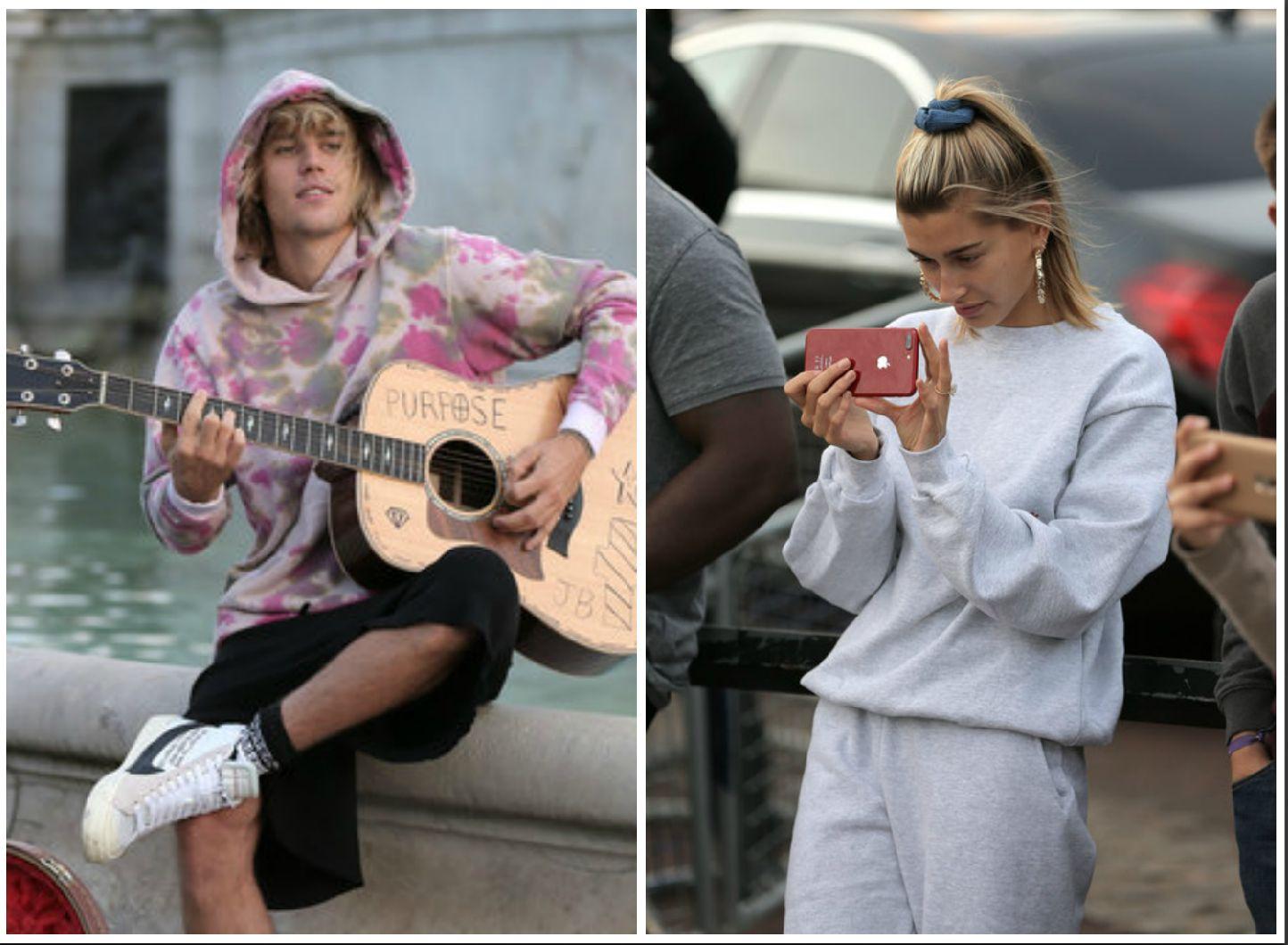 Justin Bieber Serenades Hailey Baldwin Outside Buckingham Palace Because Of