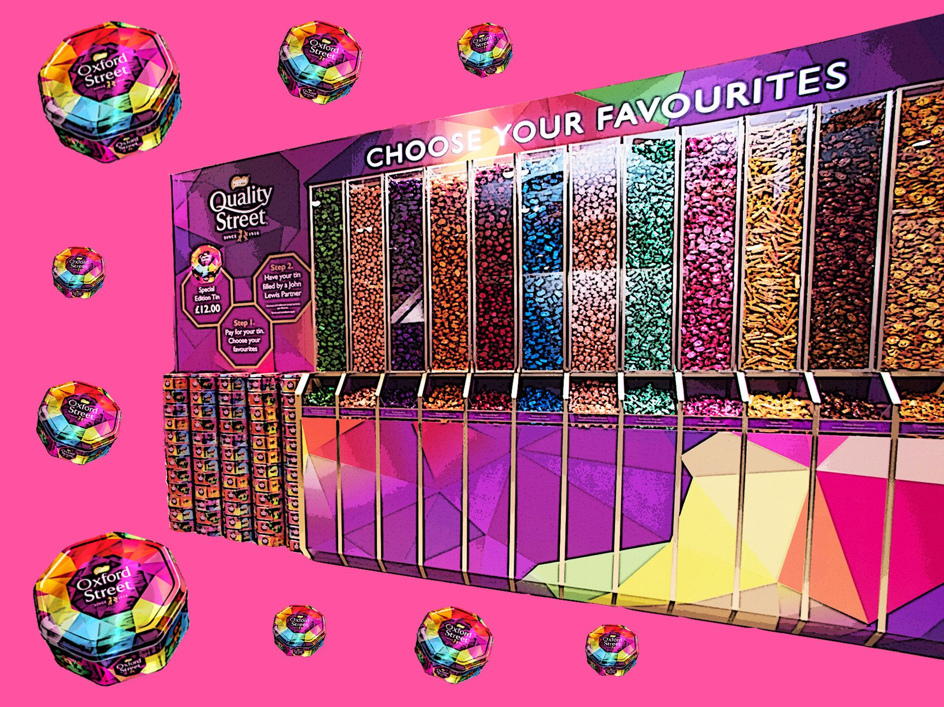 Pick 'N' Mix Your Own Quality Street Tin At John Lewis This
