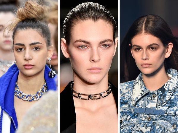 """Season after season, the """"no makeup"""" makeup look makes an appearance. For fall 2018, we saw it on the runways at Chanel, Alex"""