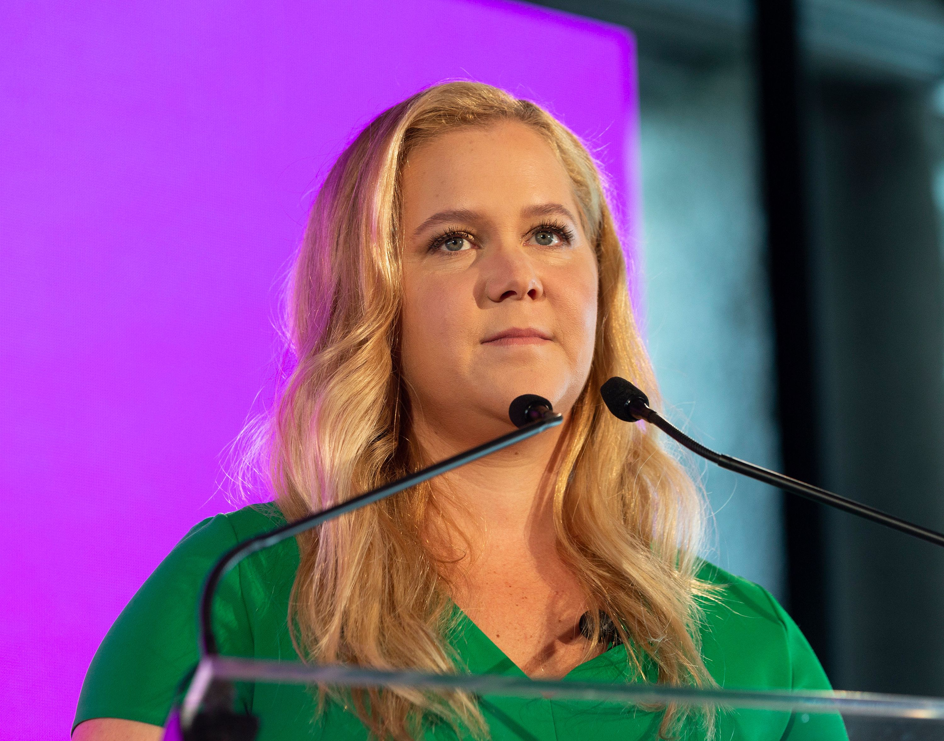 PIER 17, NEW YORK, UNITED STATES - 2018/08/08: Amy Schumer attends BlogHer18 creators summit Women inspiring women at Pier 17. (Photo by Lev Radin/Pacific Press/LightRocket via Getty Images)