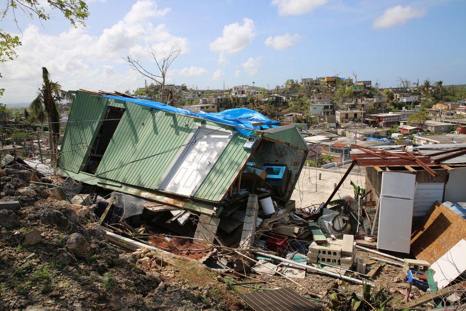 Destruction in Villa Hugo 1 three weeks after Hurricane