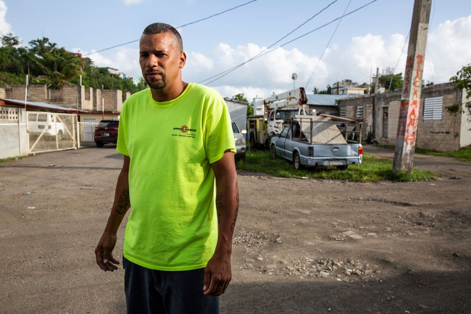 Villa Hugo 1 community leaderOscar Carrion and a small group of other residents restored power...