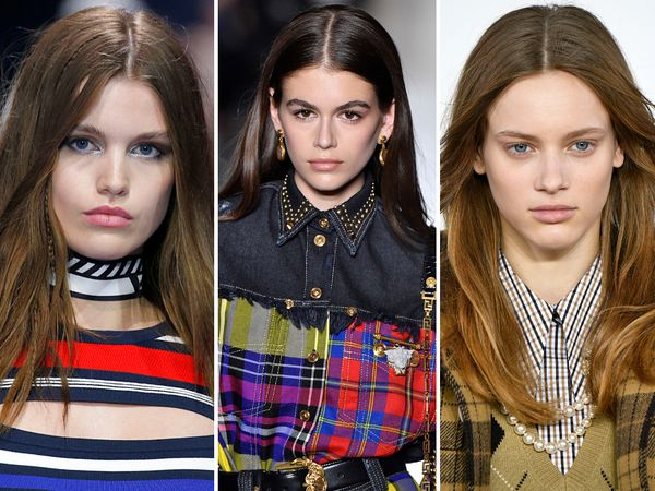 The middle part has proved its staying power of the years, and for fall, it's still going strong. We saw it on the runways at